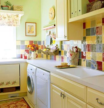 Bố trí máy giặt trong nhà bếp